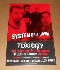 System of a Down Toxicity Poster 2-Sided Flat Square 2001 Promo 12x18 RARE