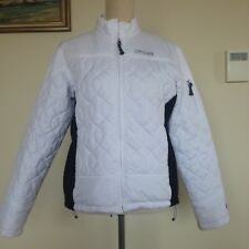 Spyder Women's White Ski Jacket Puffy Quilted Great Condition Size 10