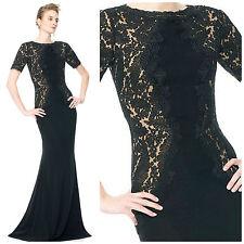 NWT $468 Tadashi Shoji Lace-Insert Gown 2