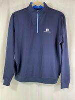 FootJoy Mens Blue Quarter Zip Long Sleeve Golf Windbreaker Pullover Sweater L