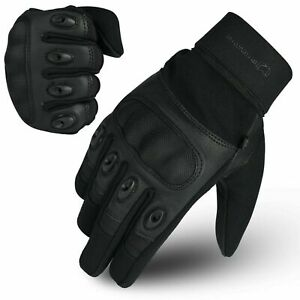 WFX Motorcycle Leather Knuckle Shell Protection Motorbike Gloves For Riders