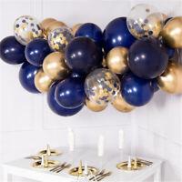 Balloon Garland Kit Navy Blue Chrome Gold Confetti Organic Arch Wedding Birthday