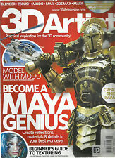 3D ARTIST MAGAZINE, ISSUE  NO. 68  ( BECOME A MAYA GENIUS )  VIDEO DISC INCLUDED