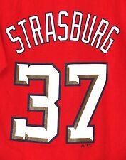 Stephen Strasburg Washington Nationals T-Shirt SMALL Red Baseball MLB Majestic