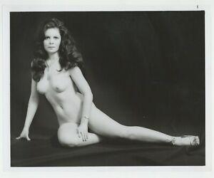 Gorgeous Leggy Brunette 1970 Original Vintage Photo Nude Legs J7377