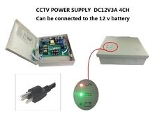 CCTV Power Supply 12V DC 3A  4CH Power Box UPS Functions, SLA Battery Support