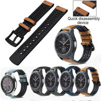 Genuine Leather Silicone Watch Band Strap For Moto 360 2nd Gen Man 42mm or 46mm