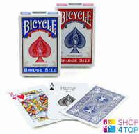 BICYCLE RIDER BACK BRIDGE SIZE BLUE OR RED MAGIC TRICKS PLAYING CARDS DECK NEW
