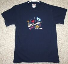 Fruit of the Loom Tee T-Shirt Blue Small Solid Women's Broadway New York Top