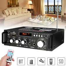 600 Watt Digital Bluetooth Stereo Audio Amplifier AMP SD USB FM Mic Home 220V