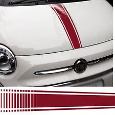 Fiat 500 Abarth Sombrero pegatinas Bandera italiana Calcomanía Coche Gráfico Raya Grande