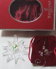Waterford 2007 SNOW STAR crystal Christmas Tree Ornament **NEW in BOX**, IRELAND