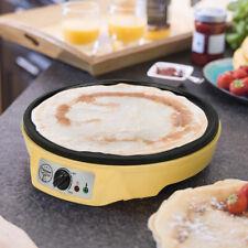 1000W Crepe Maker Pfanne Anti-Haft Platte Creperie Thermostat Gerät Vanille 30cm