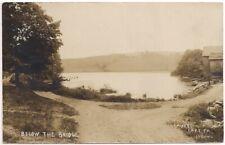Postcard RPPC PA Laurel Lake Silver Lake Pennsylvania F E Bolles Real Photo 1908