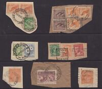 Australia pre-decimal postmark selection on piece including KGV