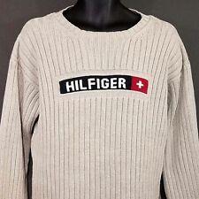 TOMMY HILFIGER Grueso Jersey HECHIZO pierdas cuello redondo de Canalé BEIS