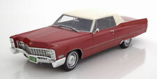 Bos 1967 Cadillac Deville Coupé Rosso con Bianco Tettuccio le 504pcs 1:18 Nuovo