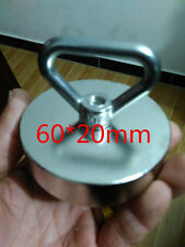 60mm RECOVERY MAGNET, VERY STRONG. SEA, FISHING, TREASURE HUNTING WITH EYELET