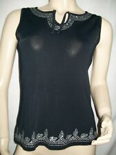 Top SOIE & VISCOSE avec Strass & Broderies. Taille 44.