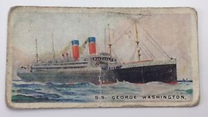 Merchant Ships World SS George Washington Vessel Imperial Tobacco Card 37 F161