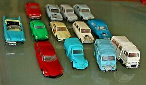Jouet ancien plastique  NOREV LOT 13 voitures pièces/restauration Années 60 1/43