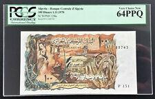 Algeria 100 Dinars Banknote (1.11.1970) P# 128 TBB B307 EF to aUNC