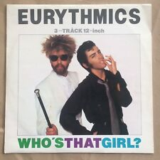 "Eurythmics - Who's That Girl 12"" Vinyl UK 1983 RCA DAT3 Pop Synth New Wave NM"