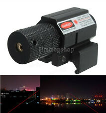 Tactical Mini Red Laser Sight Picatinny Rail For Gun Rifle Pistol Glock Scope