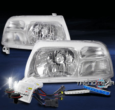 FOR 1999-2003 SUZUKI GRAND VITARA REPLACEMENT CHROME HEADLIGHT +BLUE DRL LED+HID