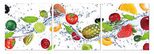 "Epic Graffiti 3 piece ""Fruit Wave"" Acrylic Wall Art, 20"" x 60"""