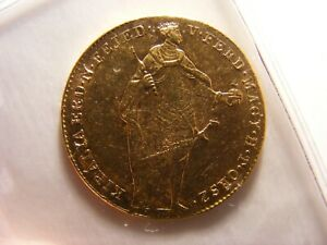 Hungary 1848 Ducat, Gold, XF, KM#433, One Year Type Coin