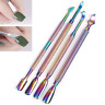 Nail Art Cuticle Pusher UV Gel Remover Stainless Steel Manicure Pedicure Tools