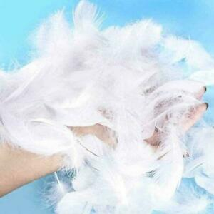 50x Large Fluffy Marabou Feathers 8-12 cm Card Making Crafts Embellishments F9N4
