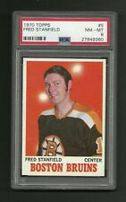 Fred Stanfield Boston Bruins 1970 Topps #5 Hockey Card PSA 8 NM-MT