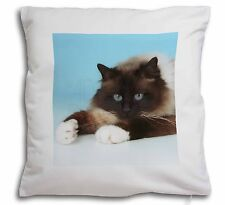 Beautiful Birman Cat Soft Velvet Feel Cushion Cover With Inner Pillow, AC-45-CPW