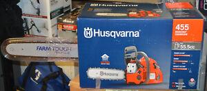 "Husqvarna 455 Rancher Gas Chainsaw 55.5cc 20"" 3.5HP"