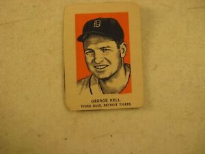 WHEATIES CEREAL HAND CUT SPORTS CARD GEORGE KELL DETROIT TIGERS BASEBALL