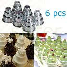 6Pcs 3-Tier Mould Baby Showers Cupcake Pudding Chocolate Cake Mold Baking Pan WO