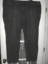 Baccini Women's Plus Jeans Denim Black Grey Straight Leg Pants Size 24W EUC