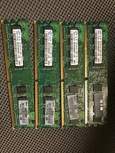 Samsung M378T2863QZS-CE6 4GB (4x1GB) 1Rx8 PC2-5300U Desktop Memory