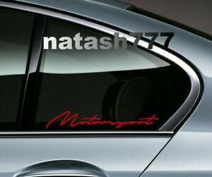 MOTORSPORT Sport Racing Window Decal Sticker Performance Car Truck Emblem Logo