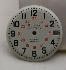 Genuine New Old Stock Bulova Accutron 218 Railroad Approved Dial 24 hour w/Date