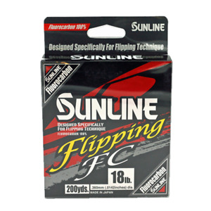 Sunline Fluorocarbon (Flipping FC) Any Pound Test 200 Yard Spool Fishing Line