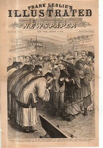 1878 Leslie's August 17 cover only -The Chinese embassy arrives in California