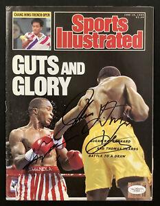Sugar Ray Leonard Signed Sports Illustrated 6/19/89 No Label v T Hearns Auto JSA