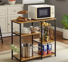 "Mr Ironstone Vintage Kitchen Baker's Rack Utility Storage Shelf 35.5"" Microwave"