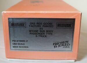 On3 Brass Precision Scale Company RGS Goose #5 Wyane Bus Body Passenger Type