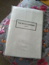 The White Company Herringbone Flat Sheet Parchment/Cream 100% Cotton New