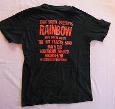 RAINBOW  T-Shirt  Rochester Gig    USA  1981