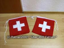 Fahnen Flagge Flaggenkette Schweiz 6 Meter Lang